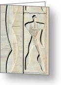 Low Relief Greeting Cards - Le Corbusier Design Greeting Card by Chris Hellier
