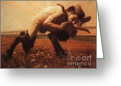 Mythological Greeting Cards - Le Faune  Greeting Card by Pg Reproductions