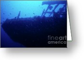Misfortune Greeting Cards - Le Grec shipwreck Greeting Card by Sami Sarkis