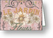 Jardin Painting Greeting Cards - Le Jardin 1 Greeting Card by Debbie DeWitt
