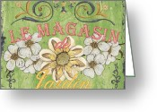 Jardin Painting Greeting Cards - Le Magasin de Jardin Greeting Card by Debbie DeWitt