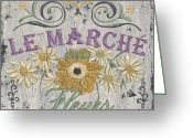 Paris Greeting Cards - Le Marche Aux Fleurs 1 Greeting Card by Debbie DeWitt