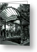 Kathy Yates Photography. Greeting Cards - Le Metro as Art Greeting Card by Kathy Yates