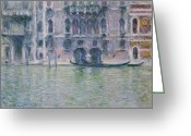 Canals Painting Greeting Cards - Le Palais da Mula Greeting Card by Claude Monet