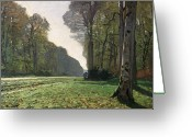 Autumn Painting Greeting Cards - Le Pave de Chailly Greeting Card by Claude Monet