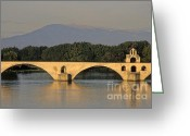 South Of France Greeting Cards - Le Pont Benezet.Avignon. Provence. Greeting Card by Bernard Jaubert