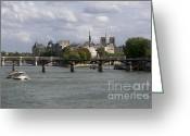 Ile De France Greeting Cards - Le Pont des Arts. Paris. France Greeting Card by Bernard Jaubert