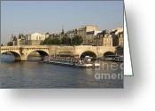 Nobody  Greeting Cards - Le Pont Neuf. Paris. Greeting Card by Bernard Jaubert