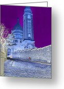 Kodachrome Greeting Cards - Le Sacre Coeur Greeting Card by Chuck Staley