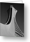 Olympia Greeting Cards - Le Stade Olympique de Montreal Greeting Card by Juergen Weiss