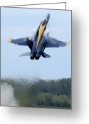Fighter Jets Greeting Cards - Lead Solo Pilot Of The Blue Angels Greeting Card by Stocktrek Images