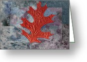 Textured Art Greeting Cards - Leaf Life 01 - t01b Greeting Card by Variance Collections