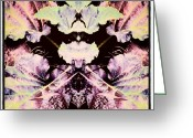 Droid Greeting Cards - Leaf-mania #android #abstract #art Greeting Card by Marianne Dow