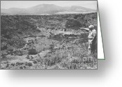 Excavation Greeting Cards - Leakey At The Olduvai Gorge Greeting Card by Science Source