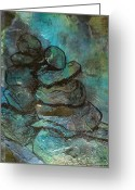 Inuksuk Greeting Cards - Lean on Me Greeting Card by Holly Suzanne Filbert