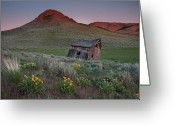 Antiquated Greeting Cards - Leaning Shed Greeting Card by Leland Howard