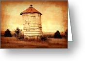 Rural Art Greeting Cards - Leaning tower Greeting Card by Julie Hamilton