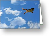 Jumping Greeting Cards - Leap Frog Greeting Card by Emily Stauring