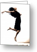 Dancer Greeting Cards - Leap into the Unknown Greeting Card by Richard Young