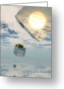 Surrealism Digital Art Greeting Cards - Leaps and Bounds Greeting Card by Richard Rizzo
