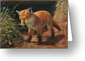 Fox Greeting Cards - Learning Greeting Card by Crista Forest