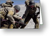 Ww2 Photographs Greeting Cards - Leave No One Behind Greeting Card by Joseph Ciferno Jr
