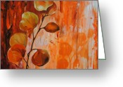 Nature Study Painting Greeting Cards - Leaves1 Greeting Card by Chris Steinken