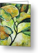 Nature Study Painting Greeting Cards - Leaves2 Greeting Card by Chris Steinken