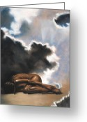 Originals Pastels Greeting Cards - Leaving Eden Eve Greeting Card by L Cooper