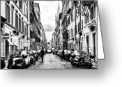 Roma Greeting Cards - Leaving Popolo Greeting Card by John Rizzuto