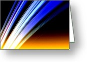 Astronomical Digital Art Greeting Cards - Leaving Saturn Greeting Card by Pet Serrano