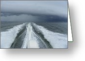 Storm Prints Photo Greeting Cards - Leaving the Scene  Greeting Card by Sheri McLeroy