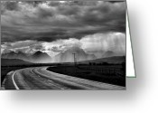 Raining Greeting Cards - Leaving the Tetons Greeting Card by Steven Ainsworth