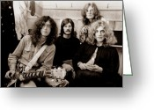 Rock And Roll Glass Greeting Cards - Led Zeppelin 1969 Greeting Card by Chris Walter