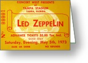 Stadium Greeting Cards - Led Zeppelin ticket Greeting Card by David Lee Thompson