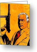 Pulp Greeting Cards - Lee Marvin Greeting Card by Giuseppe Cristiano