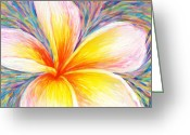 Hand Painting Greeting Cards - Leelawadee Greeting Card by Atiketta Sangasaeng