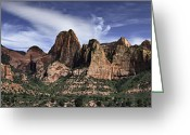 Pano Greeting Cards - Lees Pass Kolob Greeting Card by Jim Speth