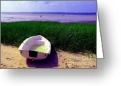 Great Point Greeting Cards - Left Behind On Cape Cod Beach Greeting Card by Annie Zeno