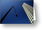Great Point Greeting Cards - Left Of Centre Point Greeting Card by Jez C Self