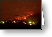 James Insogna Greeting Cards - Lefthand Canyon Wildfire Boulder County Colorado 3-11-2011 Greeting Card by James Bo Insogna