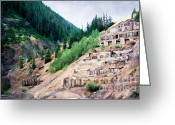 Old Mines Greeting Cards - Leftovers from Sunnyside Mill Greeting Card by Lana Trussell