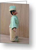 Fun Sculpture Greeting Cards - Lefty 2 - Profile Greeting Card by David Wiles