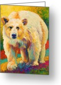 Bears Greeting Cards - Legend Of The Misty Fjords Greeting Card by Marion Rose