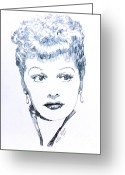 Lucille Ball Greeting Cards - Legend Greeting Card by Robbi  Musser