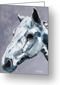 Quarter Horses Greeting Cards - Legend Greeting Card by Susan A Becker