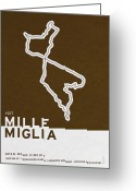 Trend Greeting Cards - Legendary Races - 1927 Mille Miglia Greeting Card by Chungkong Art