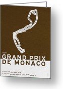 Minimalist Greeting Cards - Legendary Races - 1929 Grand Prix de Monaco Greeting Card by Chungkong Art