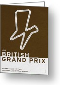Trend Greeting Cards - Legendary Races - 1948 British Grand Prix Greeting Card by Chungkong Art