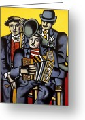 Tuba Greeting Cards - Leger Musicians 1944 Greeting Card by Granger